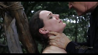 Affianced nude bitch Sierra Cirque gets punished wide be passed on forest