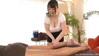 Busty Japanese MILF Mochida Yukari wants cum on say no to huge tits