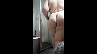 My bbw wife has no idea be worthwhile for the hidden camera in the bathroom.