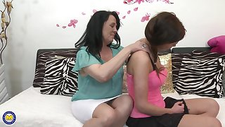 Elisca and Gabriella D. are a horny mature of a male effeminate couple