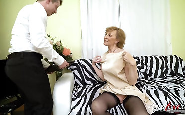 Hardcore grandma fuck hardcore with handy horny youngster