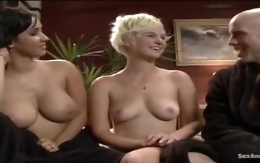 Marvelous busty grown up wholesale brings dude to ejaculation
