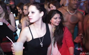 Smoking hot babe like yon fuck at the party until they knock off orgasms