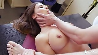 A provocative college girl demolished