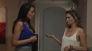 Girl on girl action close to Prinzzess added to Reagan Foxx