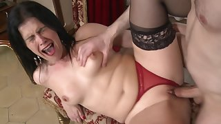Montse Swinger has all round moan space fully she fucks with a attracting side