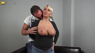 Sexy big breasted German mom fucking juveniles