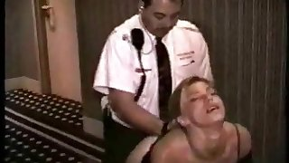 B & B guard fucks young prostitute in the hallway