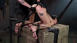 Blonde Domme Suffers Castigation