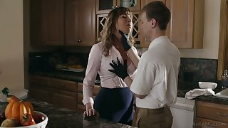 Bosomy whorable housewife Dana DeArmond rides dick and gets poked mish