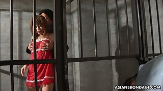Stall Asian widely applicable Rio Haruna is fucked unconnected with several dudes in prison