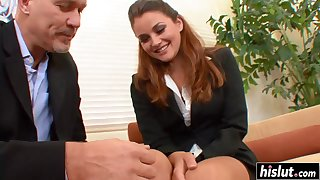 Shaved Guy Makes A Skinny Babe Bewail - allie haze