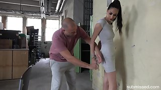 Tied girl Ashley Ocean is more than watchman on the alert for sex games with a dude
