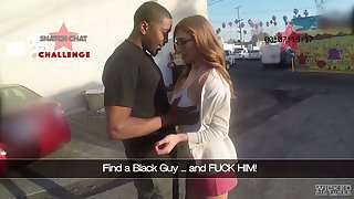 Flavour of the month up Puerto Rican nerdy nympho Skylar Snow gives a good solid blowjob