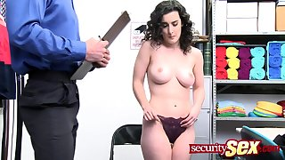 Teen thief loves object fucked