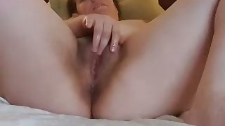horny stepsister fingering together with sucking my dick on cam