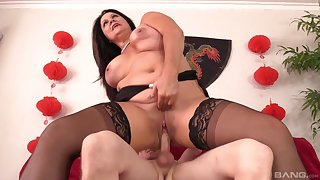 Fat mature acts crazy once riding her nephew's dick