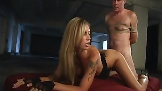 Tattooed mistress Brooke Gonfalon is fucked hard by plighted submissive