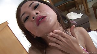 Sexy Eve feeds their way unshaved pussy with a friend's long pecker