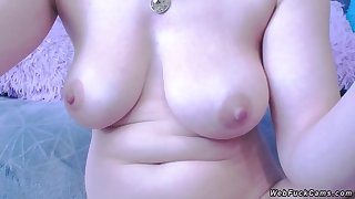 Busty bush-leaguer anal fisting on cam