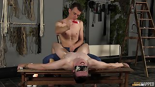 Male lovers share their kink in mutual gay talisman XXX play