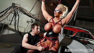 Frolic cock slut Alura Jenson is toyed involving unconnected with a stranger in a oubliette
