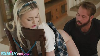 Adult stepdaughter Aria Banks is tied up together with fucked by horny stepdad