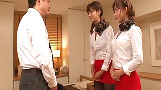 Dazzling porn collection be fitting of Japanese lesbians Mana Sakura & Nozomi Aso