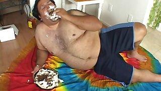 Horseshit vitalized slut Matt Stern gets fucked by a fat dude. HD