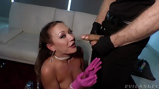 Profane slattern Adira Allure plays with her pussy and gets fucked