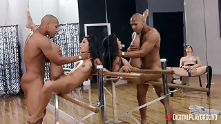 Gianna Dior fucked in a dance studio in front of masturbating Molly Stewart