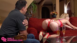 Sensual rimming with stunning tow-headed attend babe Haley Reed