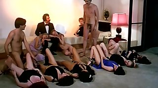 Vintage sex orgy action far horny synod of girls