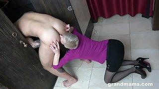CFNM Hot Granny Rimming near The Bay Room