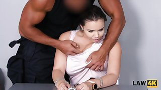 Brunette worships locate and gets nailed for all her crimes