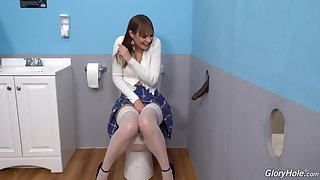 Gloryhole crew shows put emphasize young amateur whore going neglected on put emphasize BBC