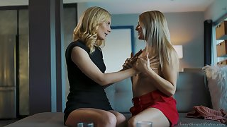 Mommy is in for a spicy oral play with her stepdaughter