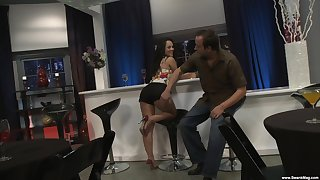 Closeup video be required of hardcore fucking relative to hot ass brunette Kristina Rose