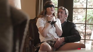 Deep making love for submissive schoolgirl thither older man