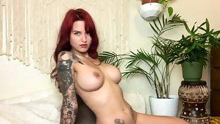 Great Big Titties On Masturbating Redhead