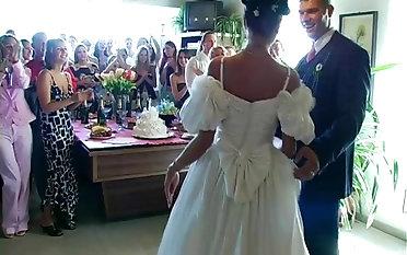 Sarah Twain,Tatiana Milovani and Virus Vellons sucking dicks at a wedding