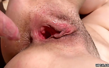 Slamming her tight wet pink pussy on the warm beach