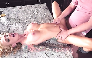 Needy overprotect sure likes her step son's cock in her pussy